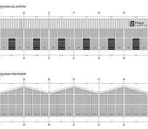 Elevación de Vigas de cubierta y Fachadas